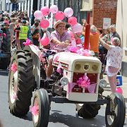 Spectra's Tracy drives for Pink Ladies Tractor Road Run charity